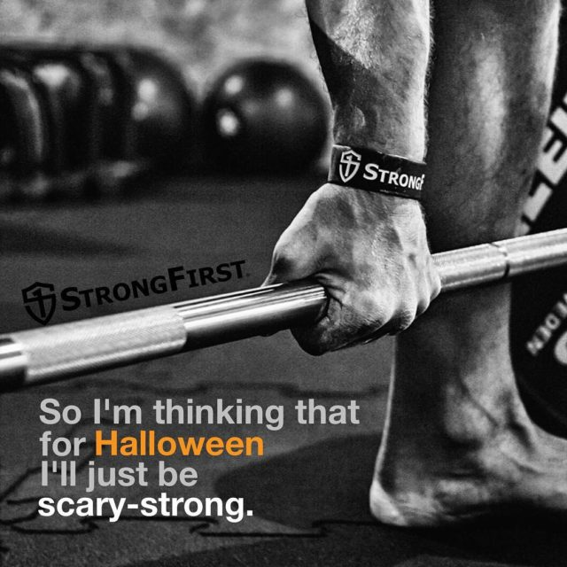 boo scarystrong costumecontest barbell kettlebell bodyweight strength StrongFirst