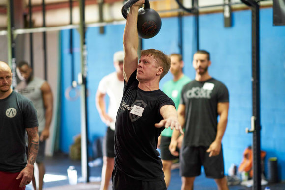 Half-Bodyweight Kettlebell Press