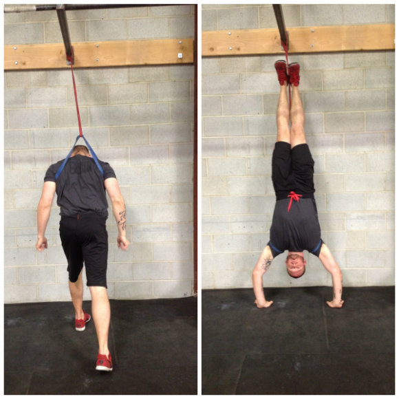 How to use bands to assist handstand push-ups