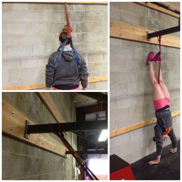 How to use bands to assist the handstand push-up