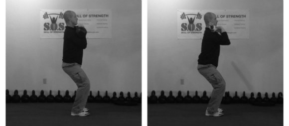 Kettlebell and barbell dip position