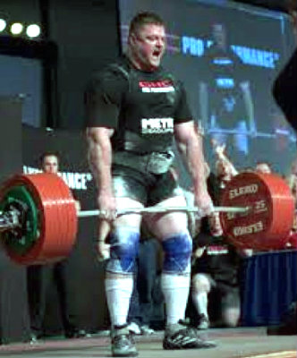 Brad Gillingham in competition.