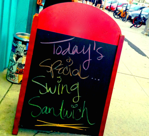 Swing Sandwich Menu Board
