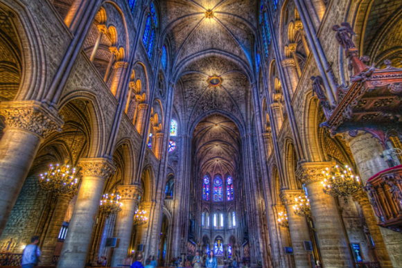 The construction of Notre-Dame took over a century.