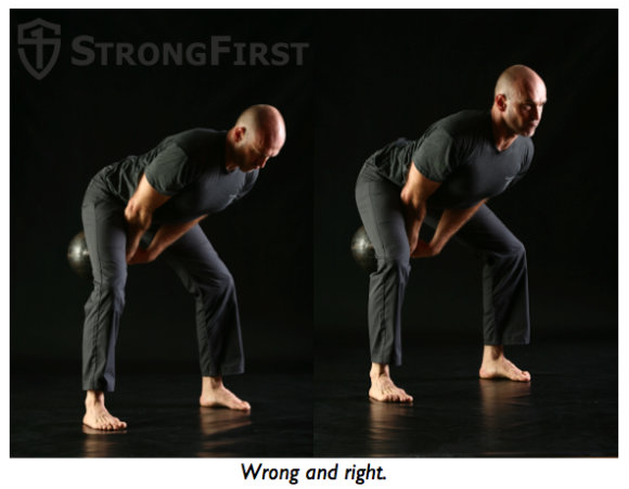 Pavel demonstrating neck position