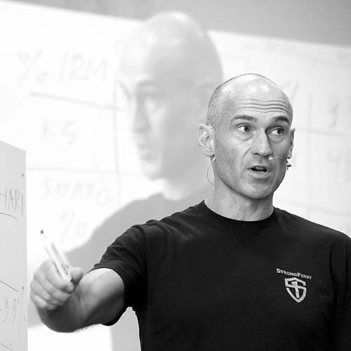 Pavel Tsatsouline, StrongFirst Founder lecturing at a PlanStrong event