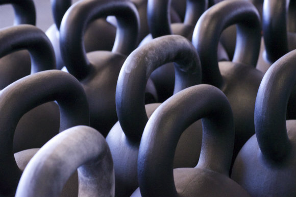 Collection of StrongFirst kettlebells