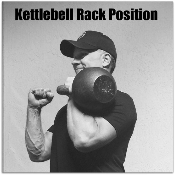 Kettlebell press rack position