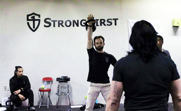 Louka Kurcer at StrongFirst Certification in Seoul Korea