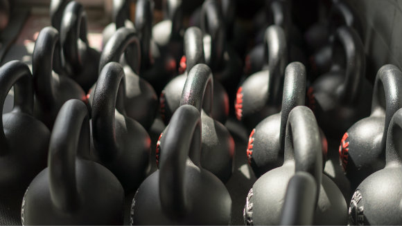 Kettlebells in sunlight
