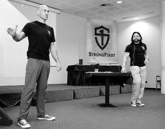 Pavel Tsatsouline and Fabio Zonin at Plan Strong