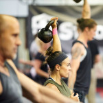 Students in kettlebell class