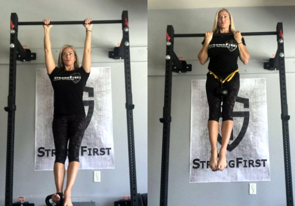 Progressions for getting your first pull-up