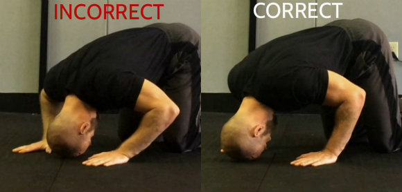 Headstand Head and Hand Position - Handstand Push-up Progressions
