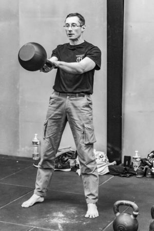 heavy two-hand kettlebell swing