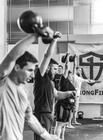 Line of StrongFirst snatch tests