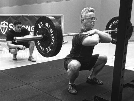 Barbell front squat at the SFL certification