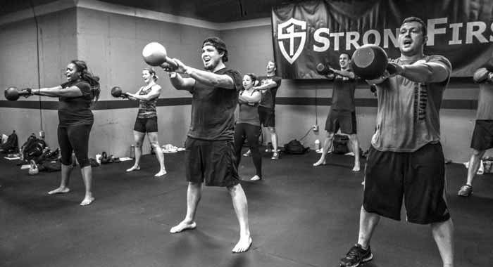 StrongFirst foundations workshop, kettlebell swings