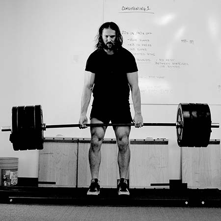 Performing a conventional deadlift