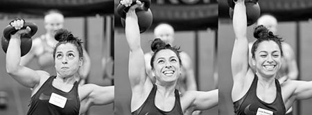 Three stages of a heavy press