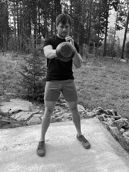 One-arm kettlebell swing