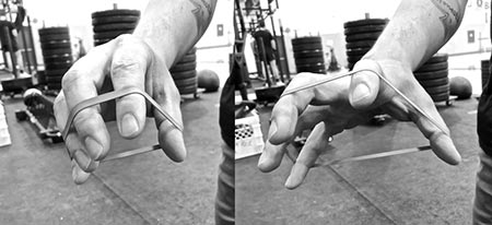 Spend some time on fingers and hands extension