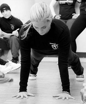 Karen Smith performing a pushup plank