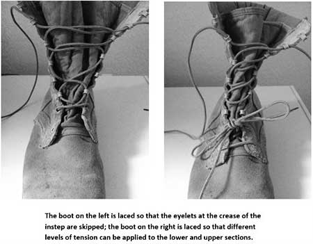 How to lace boots for rucking