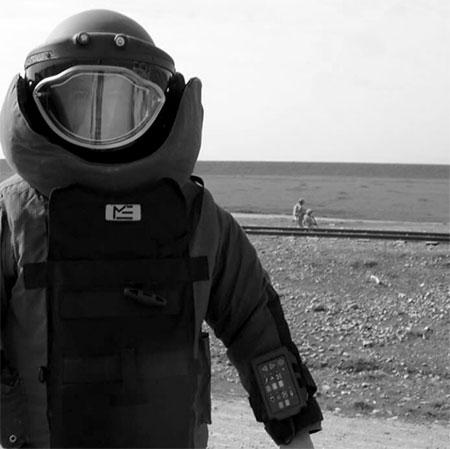 The bomb suit