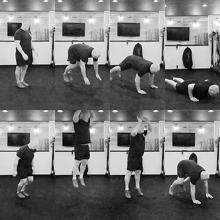 How performing the hard style burpee