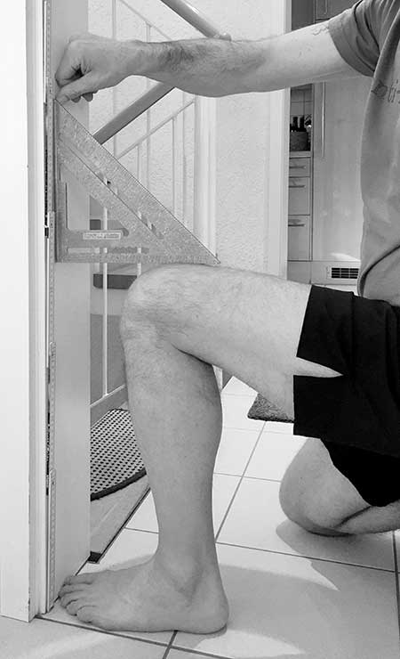 The proper step-up knee angle