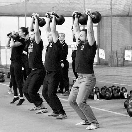 The StrongFirst double kettlebell jerk