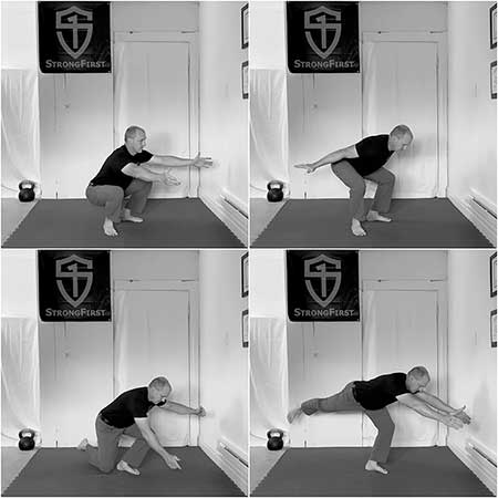 Brett Jones shows the difference between the squat style hinge and RDL style hinge